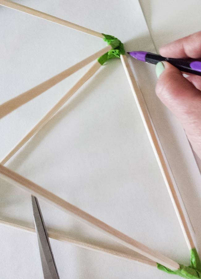 trace shape for paper ornament diy