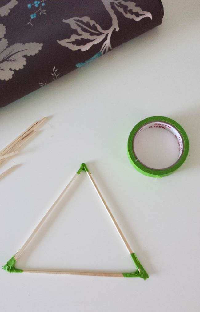 triangle shape for paper ornament diy
