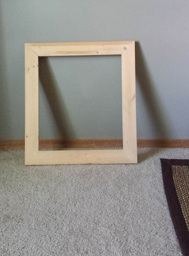 wooden frame for decor diy