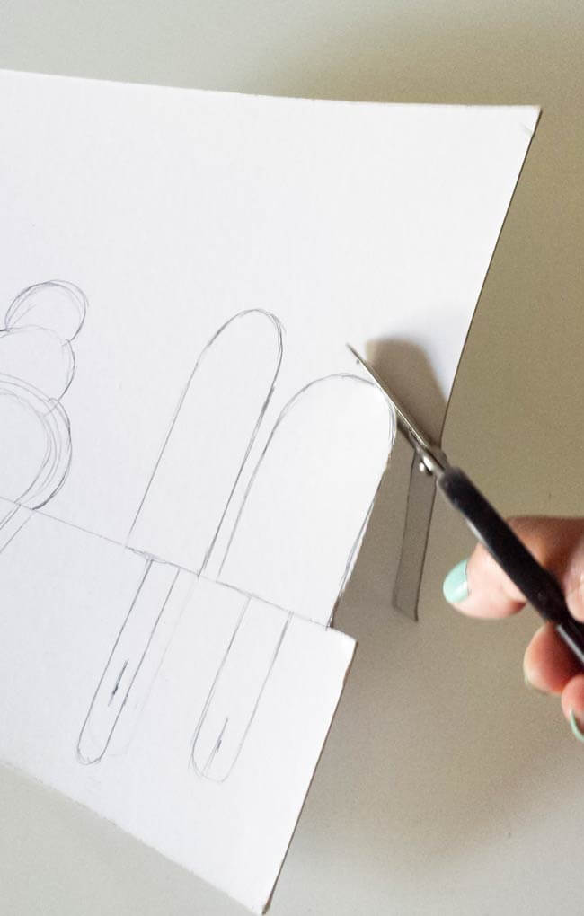 cut away cradboard for drawing for draw popsicles and ice cream on measure cardboard for hairband organizer diy