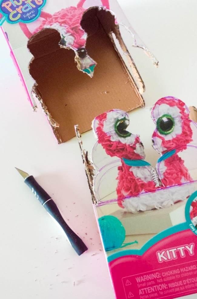 cut up repurposed box