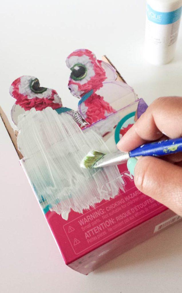 white paint ob repurposed box