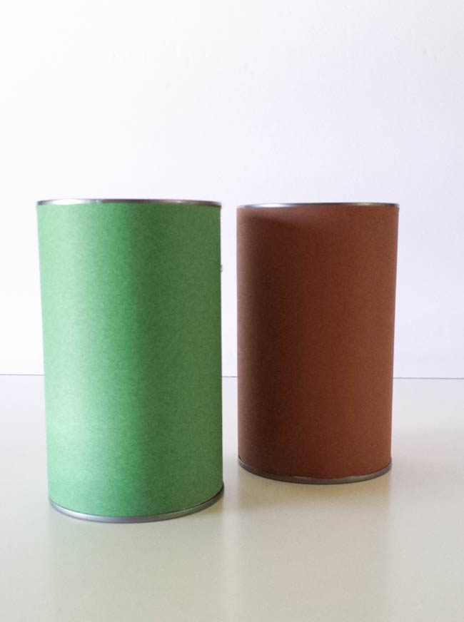 paper wrapped tin can diy