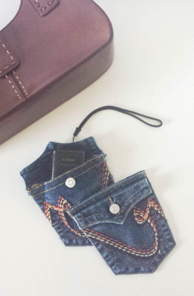 useful pouch from repurposed old jeans pocket