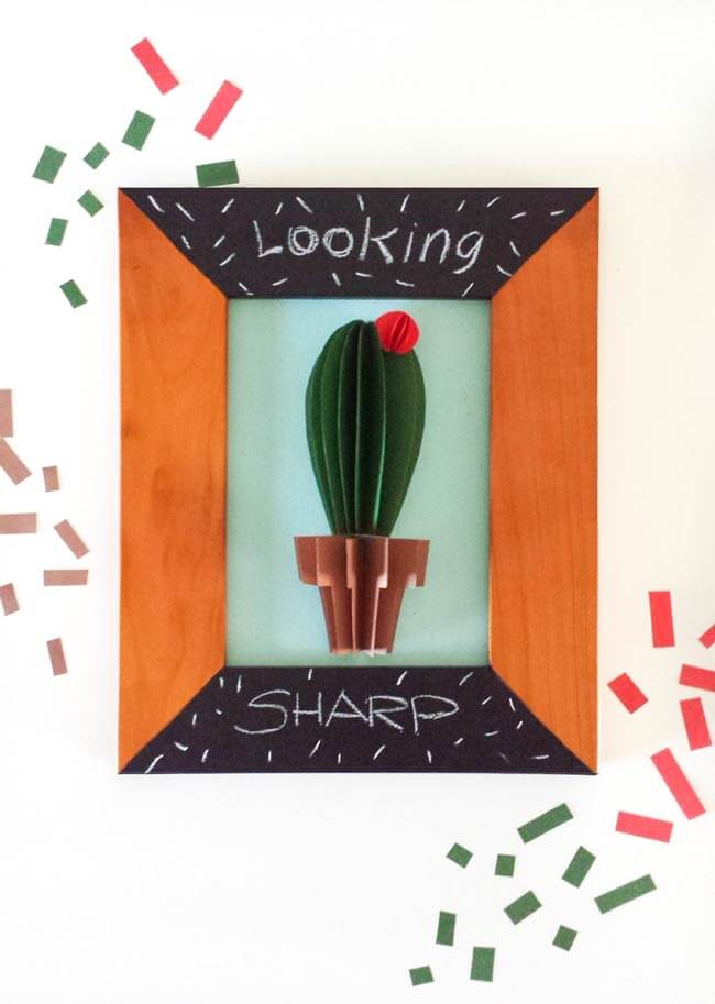 Cactus Wall Art Diy - Make A Paper Craft That Looks Great As A Wall Art