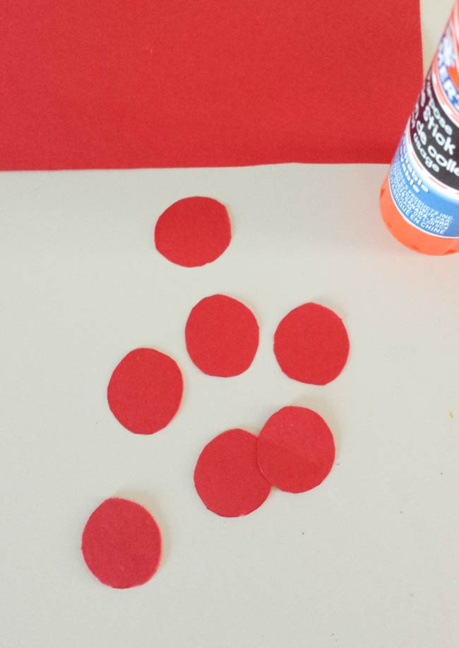 red circles for cactus wall art diy