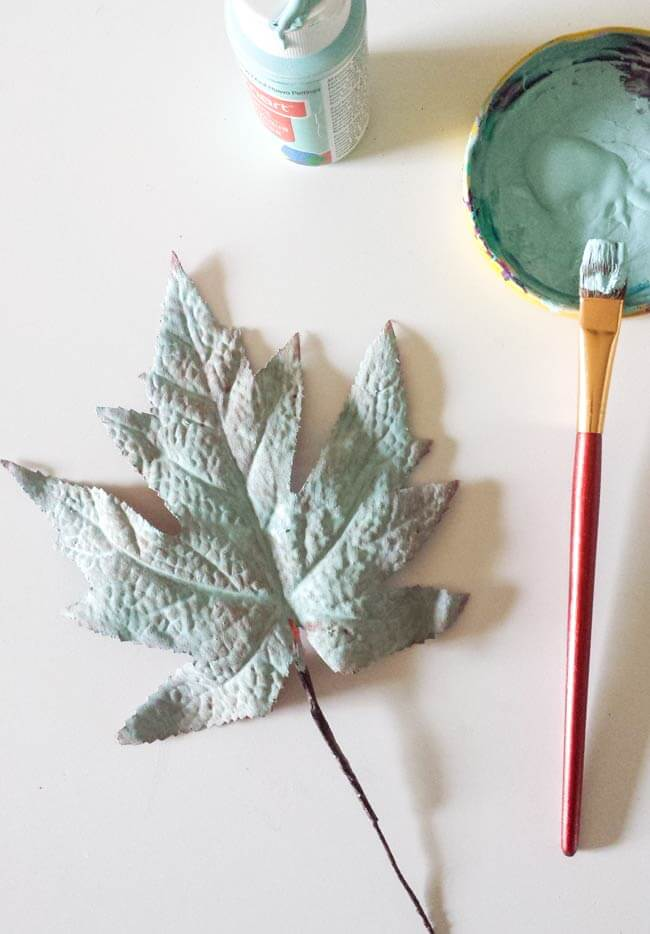 paint leaves fall decor diy