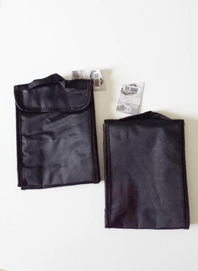 plain dollarstore lunch bag makeover