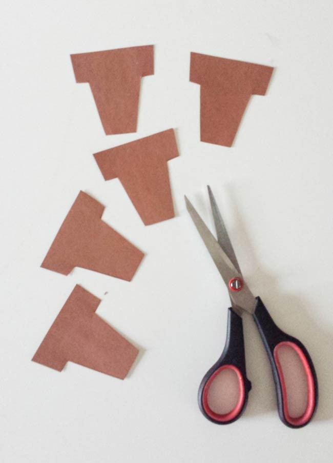 plant pot cut outs for cactus wall art