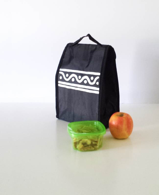 tribal print on lunch bag makeover