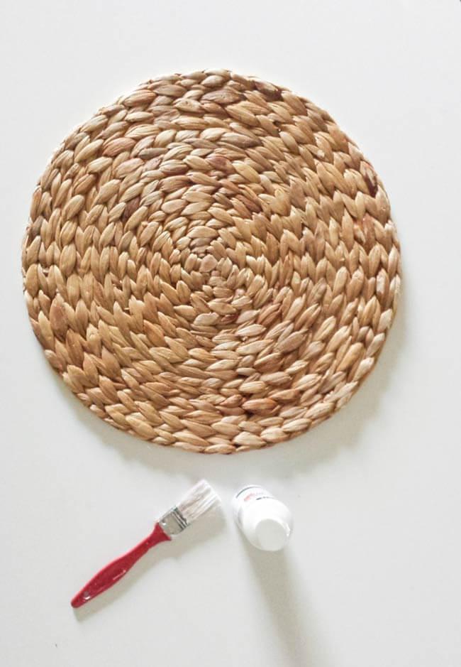woven placemat fall decor diy