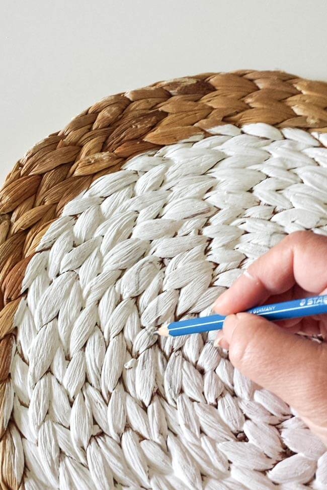 write on mat fall decor diy