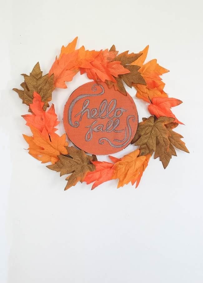 fall wreath diy