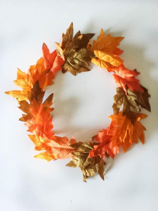 garland for fall wreath diy