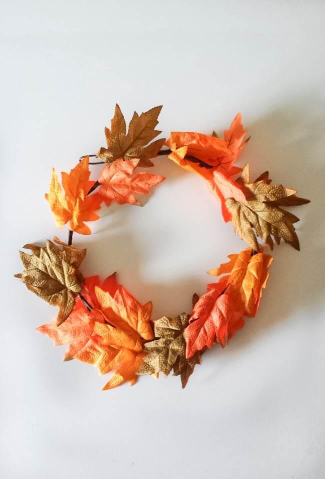 fall leaf garland for fall wreath diy