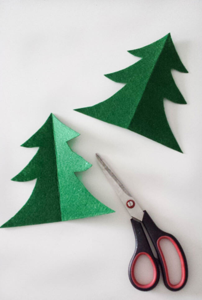 cut outs felt christmas tree