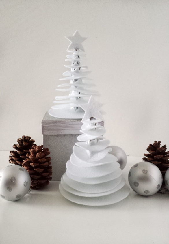 round christmas tree decor diy