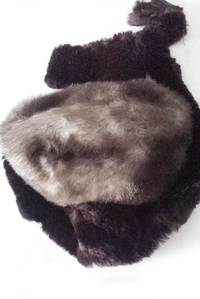 faux fur upcycled hat diy